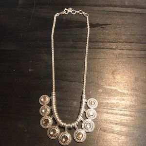 Lucky Brand necklace silvertone 19""